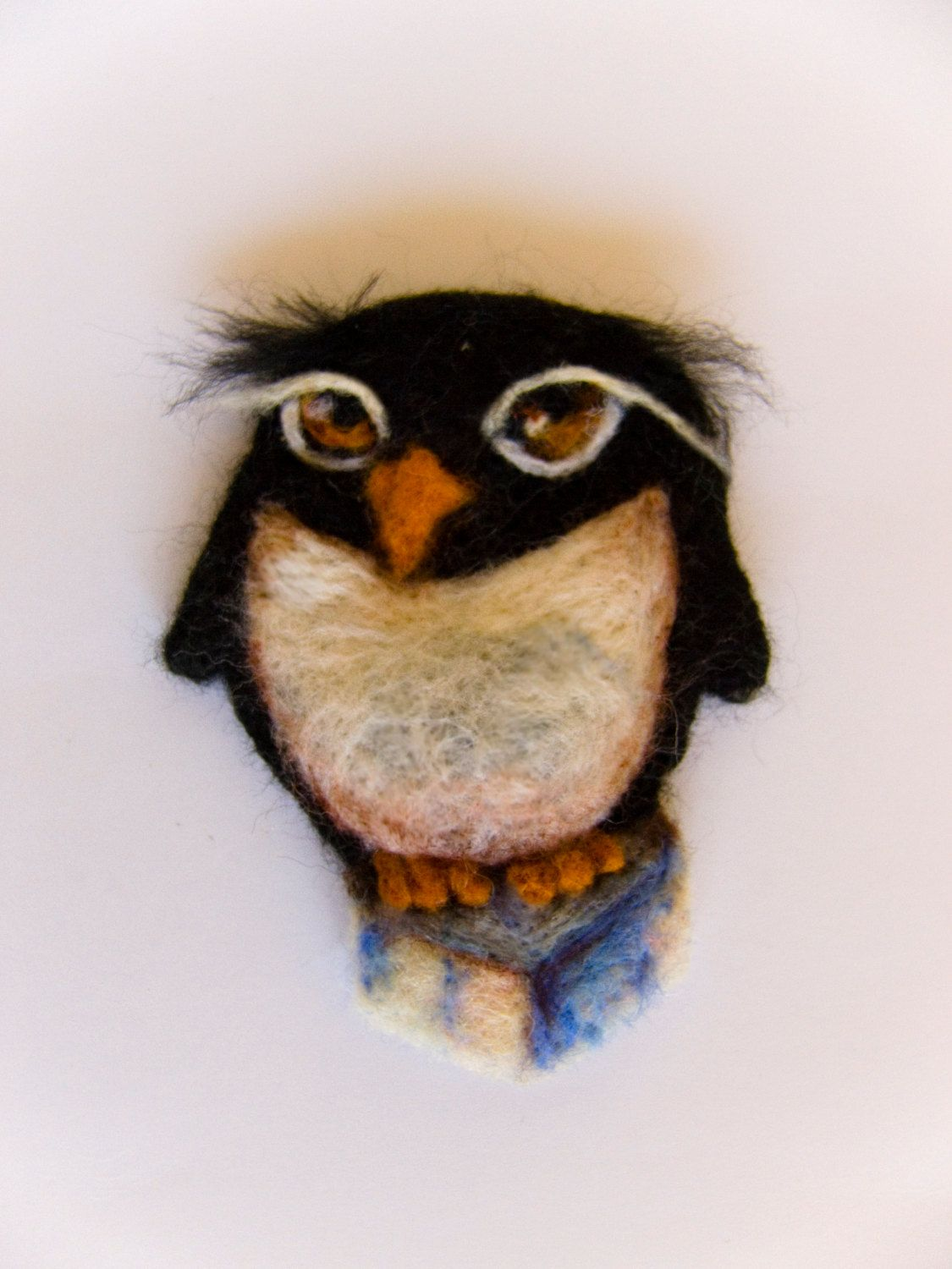 "Felt brooch ""Penguin"" - pinned by pin4etsy.com"