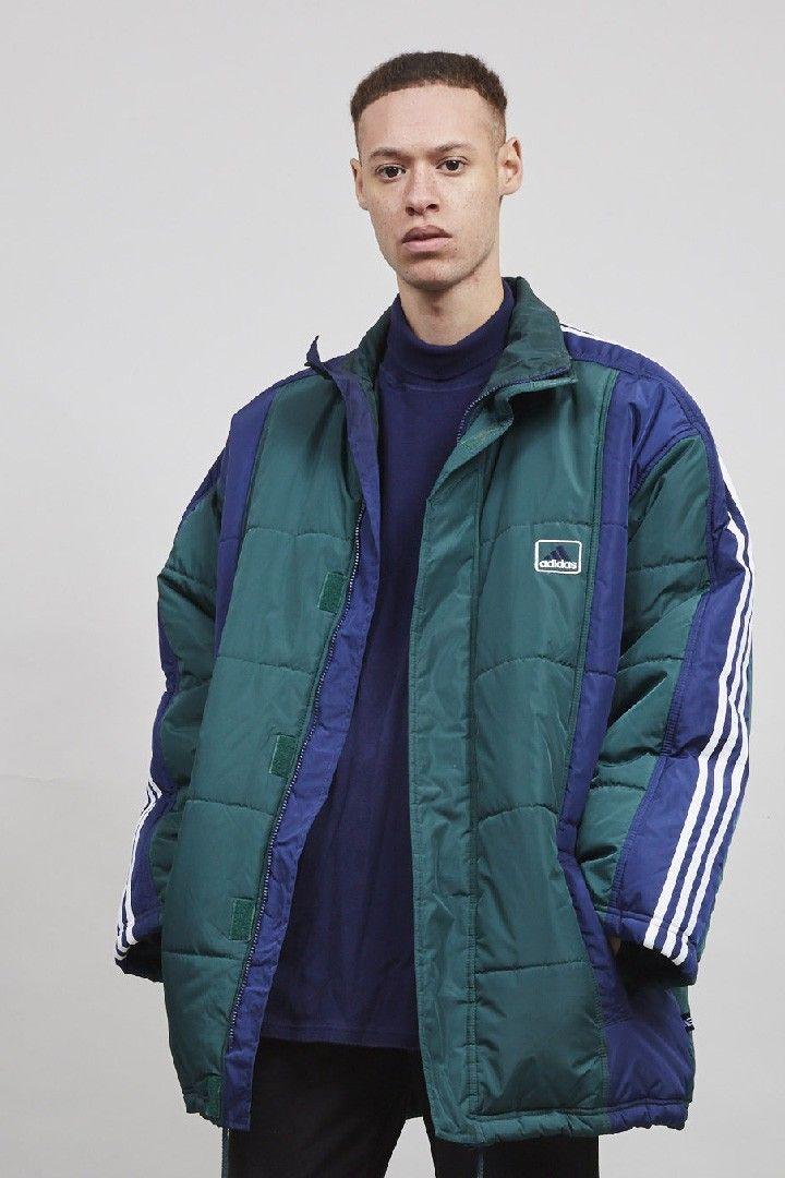 04c8c37d6 Vintage Adidas multi coloured 90's super oversized puffer coat ...
