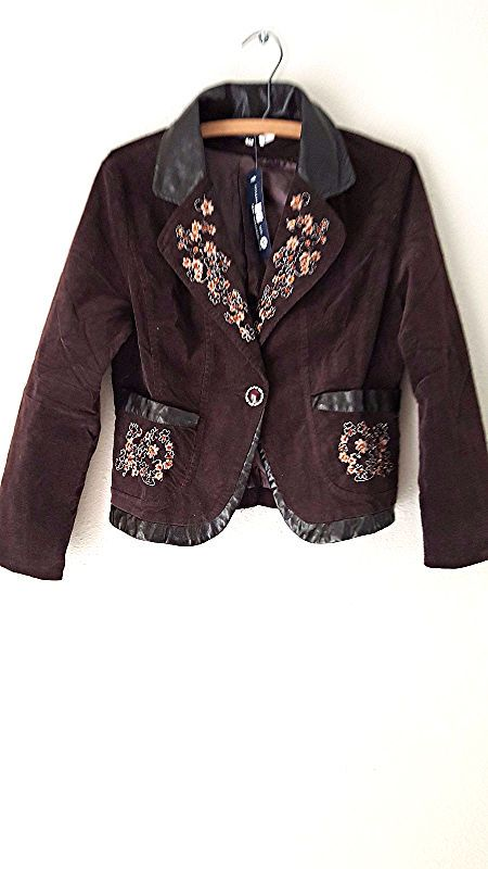 New MOA Blazer Size Medium Embroidered Suit Coat Jacket Floral #MOA #BasicCoat