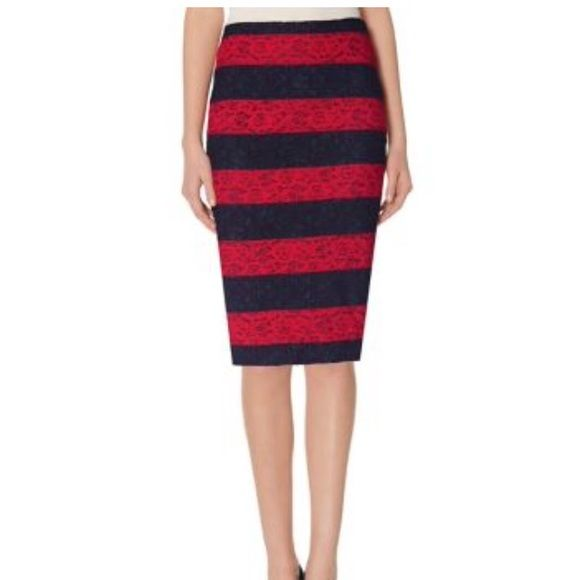 Pencil skirt! Navy and red skirt. Never been worn. Looks perfect with the navy shoes I have listed. The Limited Skirts Pencil