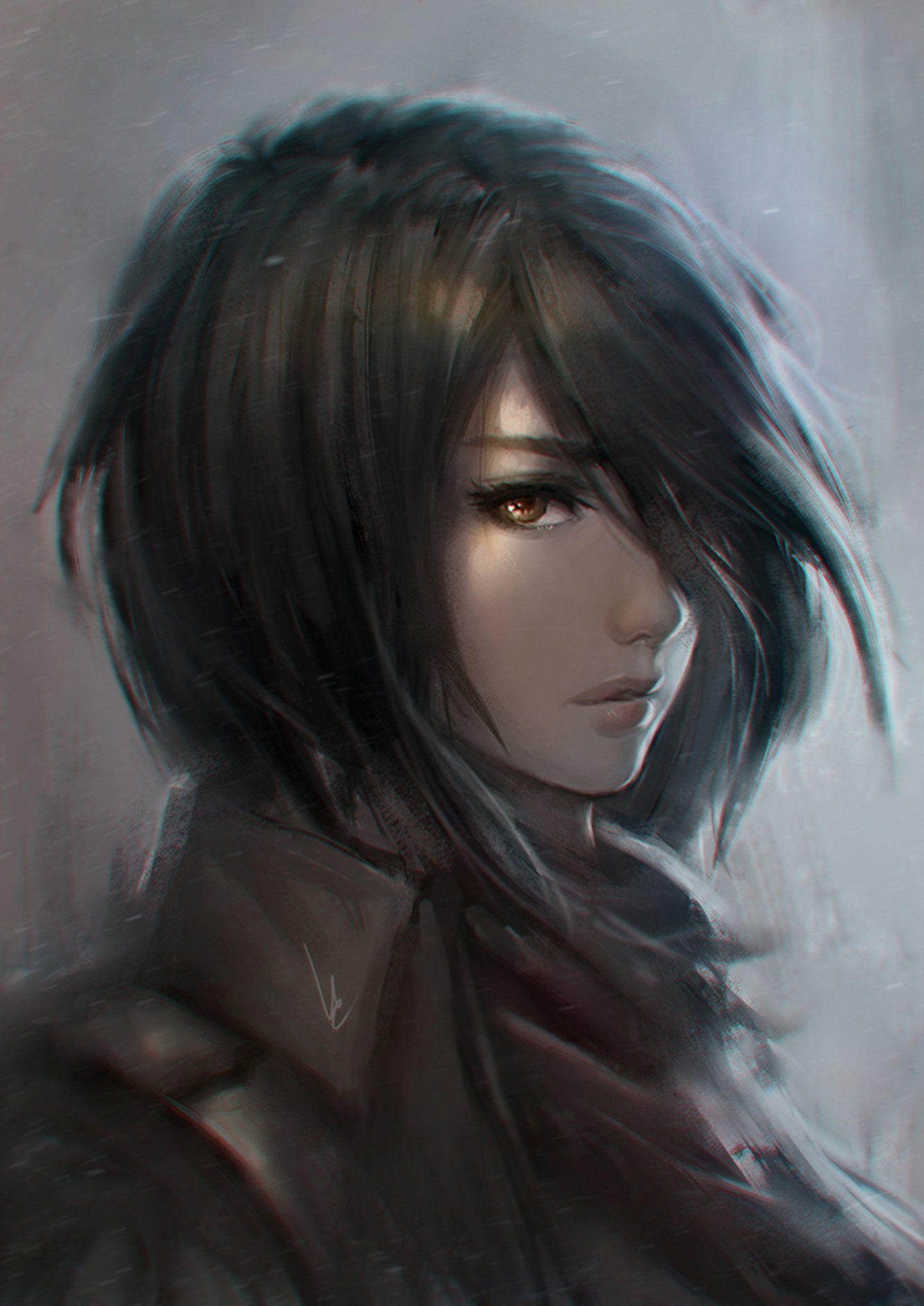 Anime Series Character Girl Short Hair Popular Anime Attack On Titan Anime Digital Portrait