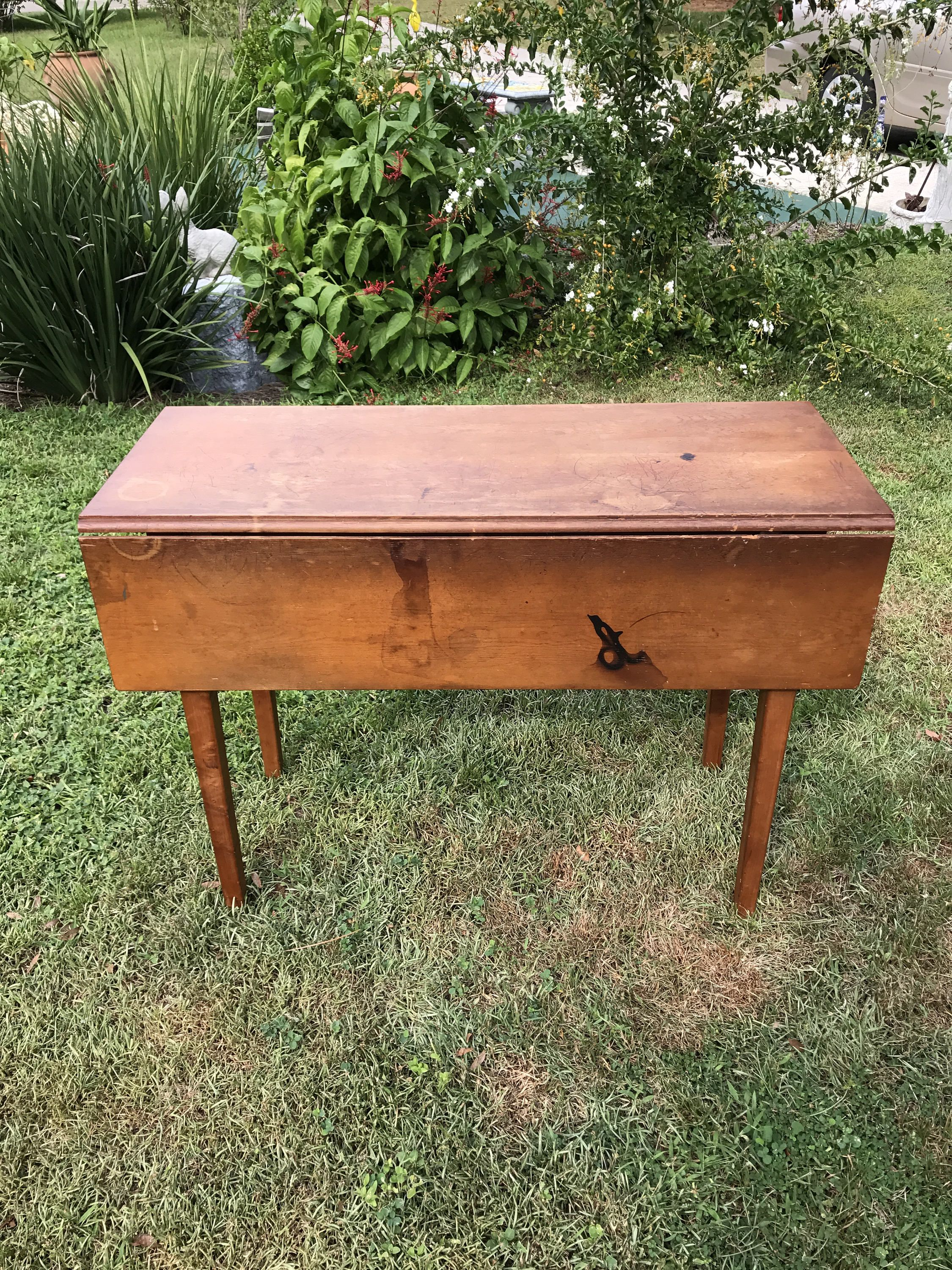 Antique Pine Drop Leaf Table Kitchen Table Circa 1800s Primitive Pine Table By Booboozbazaar On Etsy Drop Leaf Table Leaf Table Pine Table