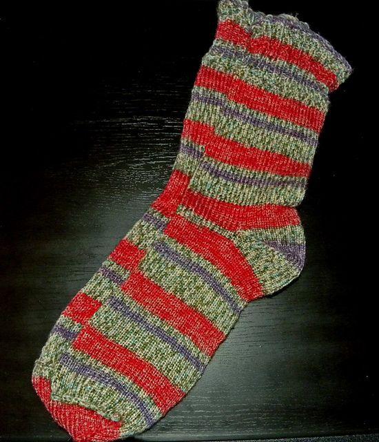 Knitting Socks On A Loom : Knit socks my first pair using the original kb sock loom