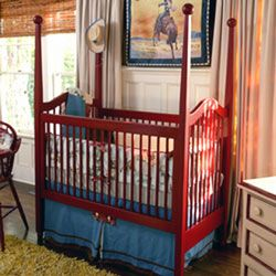 If we every have a buckaroo. I love the red crib with the ...