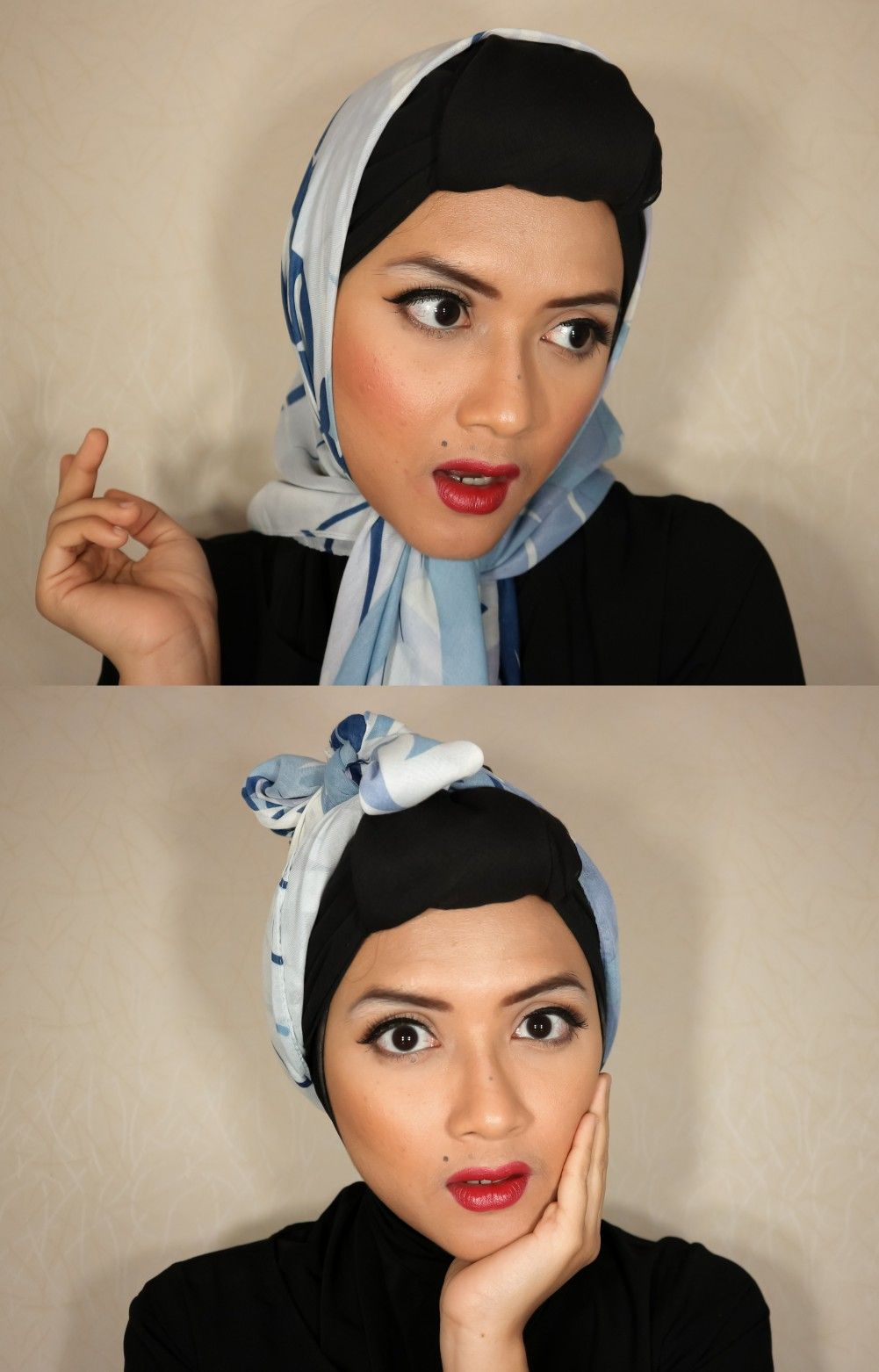Retro 1950s Make Up and Hijab Look makeup retromakeup