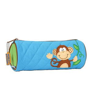 Loving this Blue Monkey Pencil Pouch on #zulily! #zulilyfinds