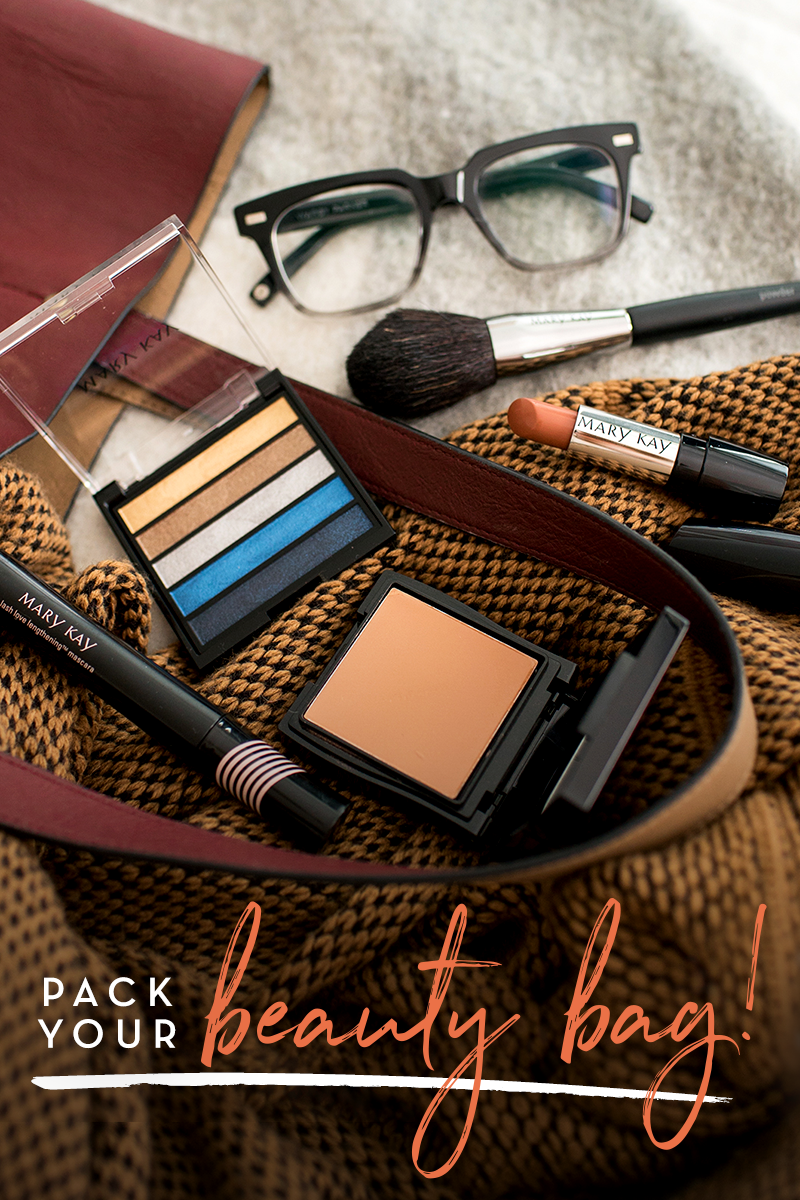 Fall is here and our (beauty) bags are packed! Create a