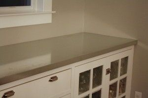 galvanized countertop