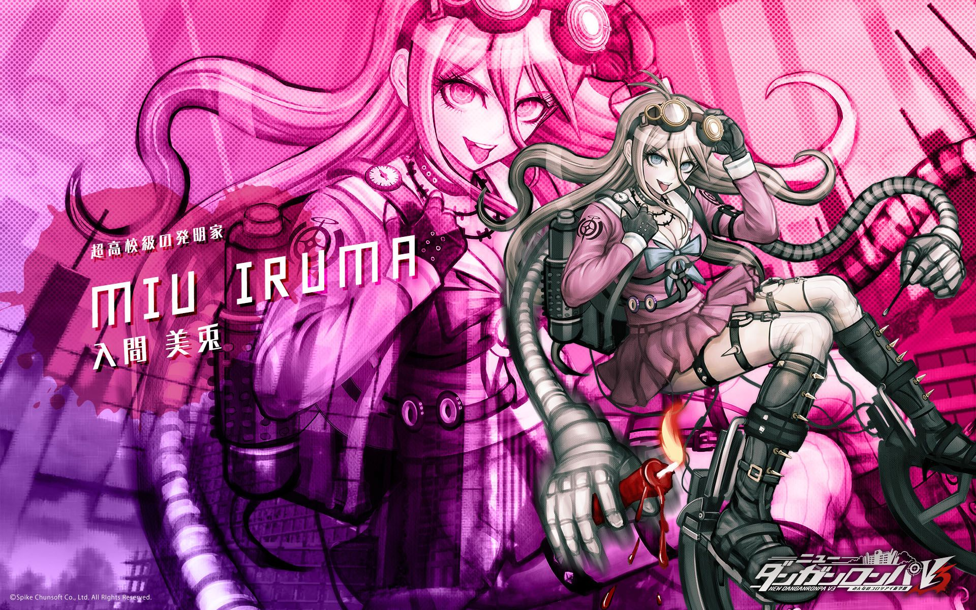 Miu Iruma Wallpaper Danganronpa Iruma Anime Wallpaper Iphone