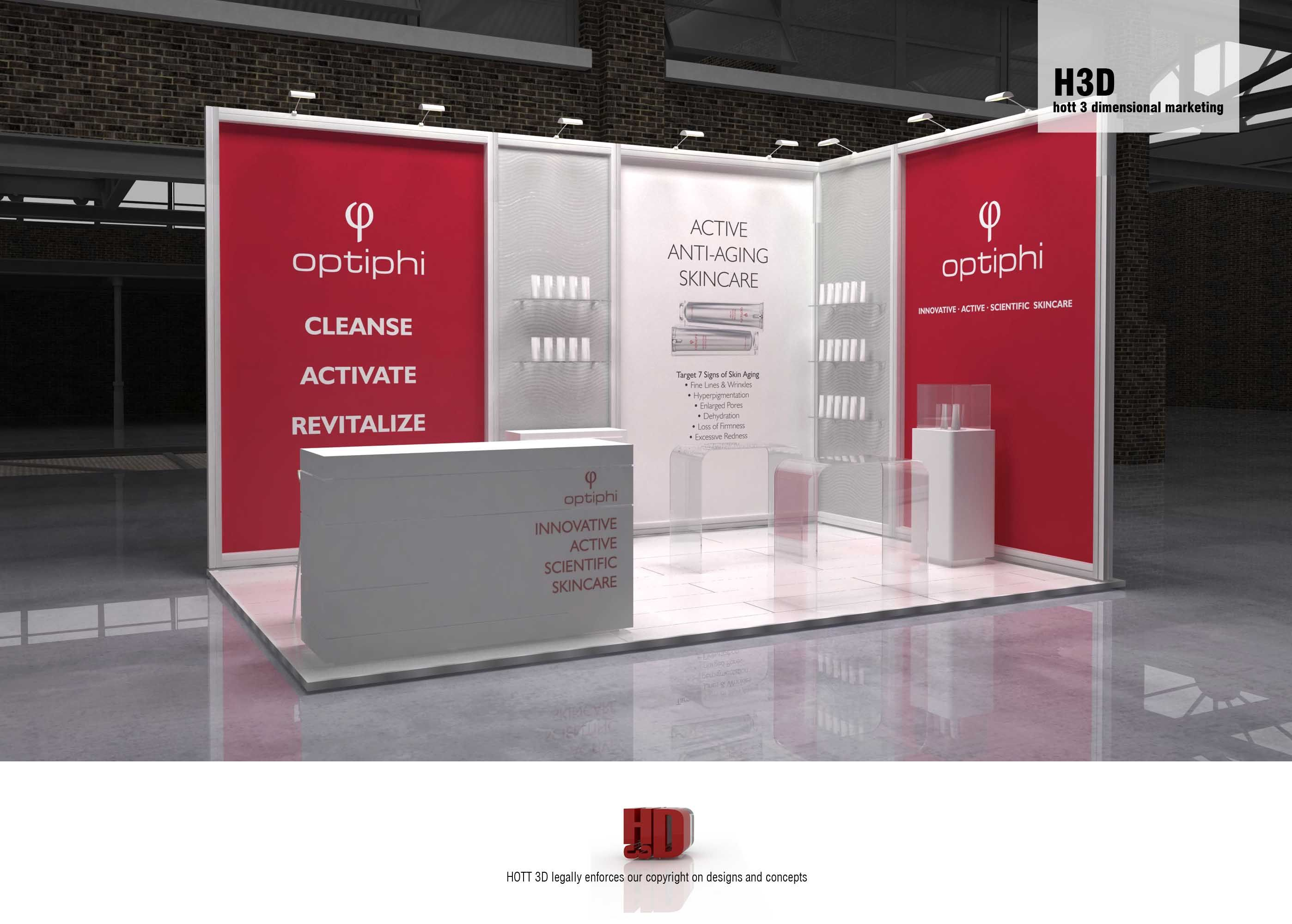 Exhibition Stand Companies Johannesburg : Optiphi booth at professional beauty trade exhibition