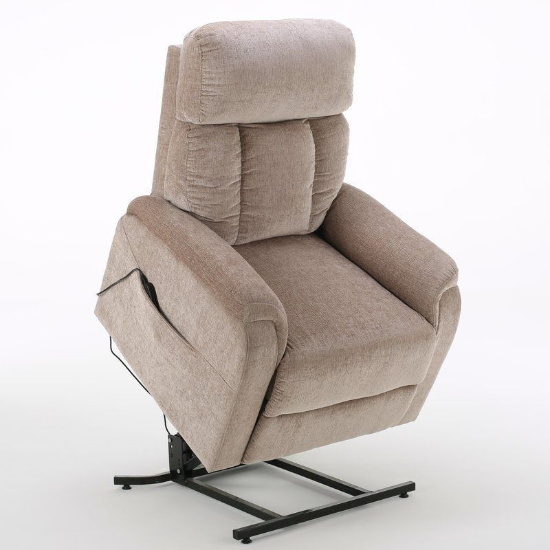Captivating Power Lift Recliner Chair Lazy Boy Furniture Living Room Push Button Wheat