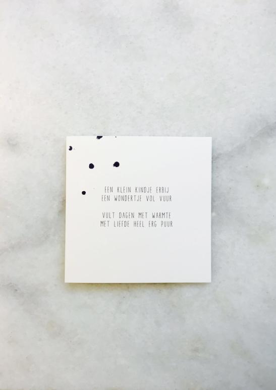 Magnifiek Een klein kindje tekstje gedichtje, kaartje © versje voor &MF14