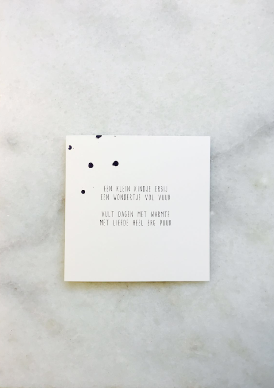 Een Klein Kindje Tekstje Gedichtje Kaartje Versje Voor