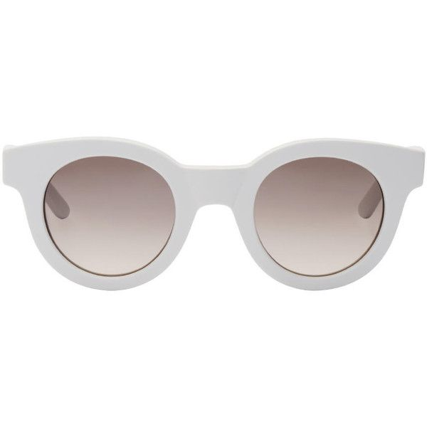 Sun Buddies Off-White Type 02 Sunglasses (1,715 MXN) ❤ liked on Polyvore featuring accessories, eyewear, sunglasses, glasses, cement, round acetate sunglasses, acetate sunglasses, matte glasses, lens glasses and black gradient sunglasses