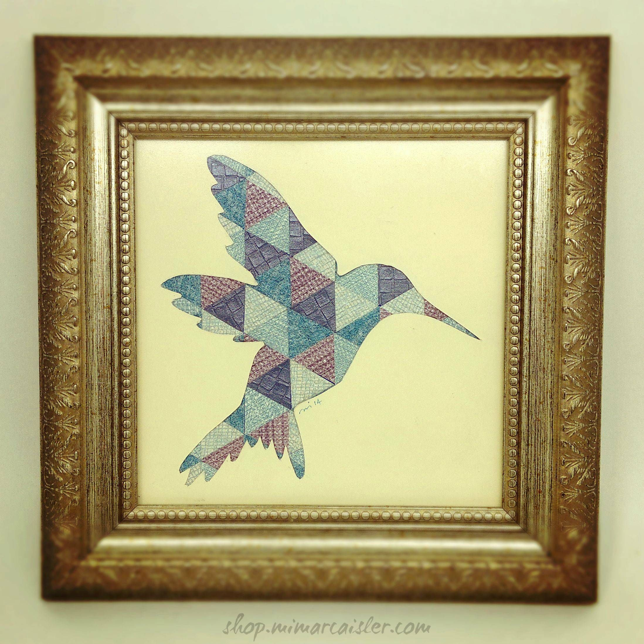 Blue Bird Paper Collage Art Wall Decor | Instagood, Paper collages ...