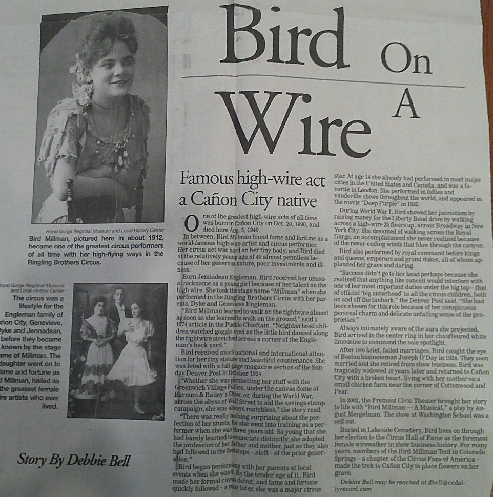 Bird Millman Article entitled \