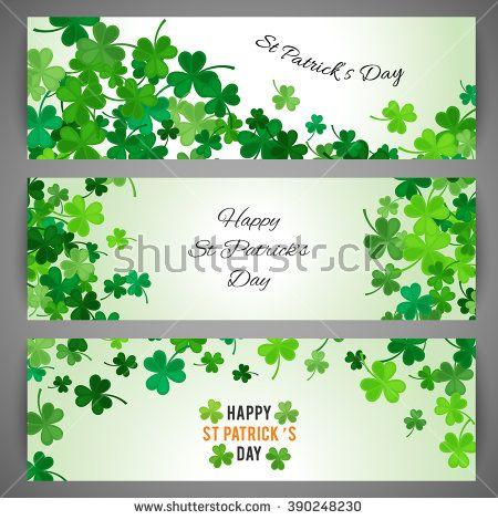 st patricks border art set of st patricks day banners vector illustration for lucky