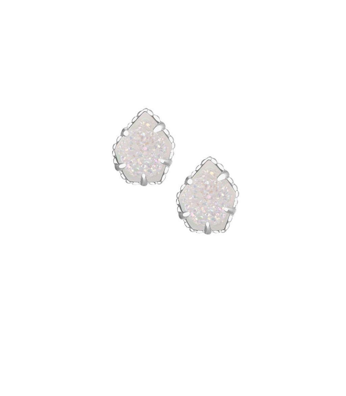 ed54f7c85 Kendra Scott Tessa Stud Earrings in Iridescent Drusy Silver ...