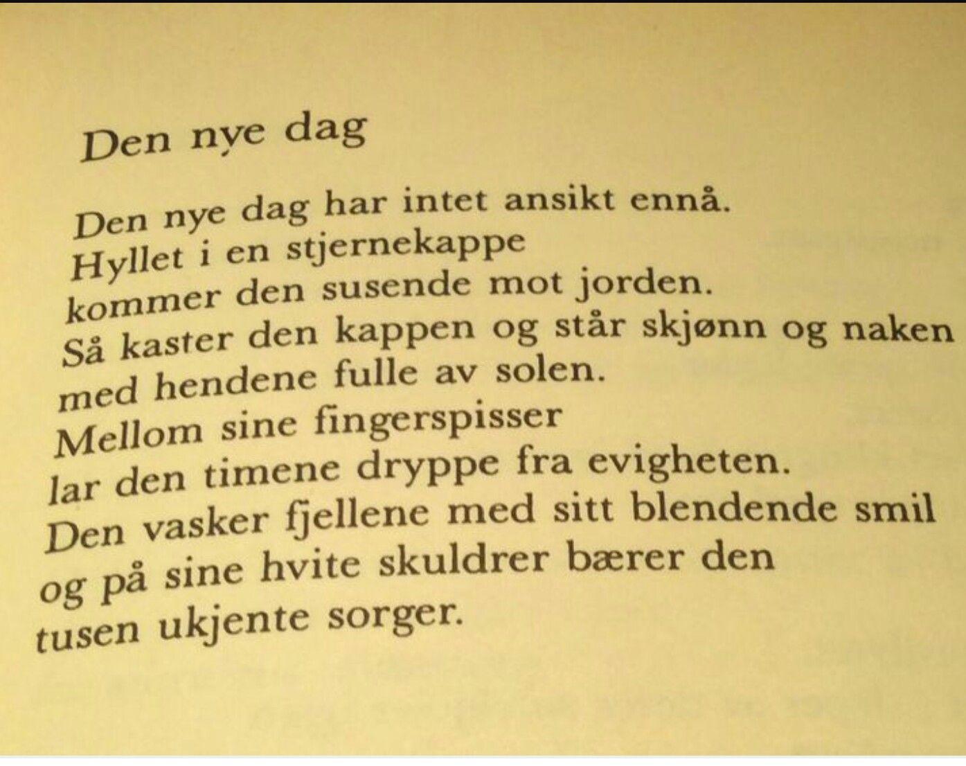 ~Den nye dag~ Inger Hagerup
