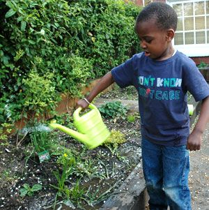 Images For Child Watering Plants