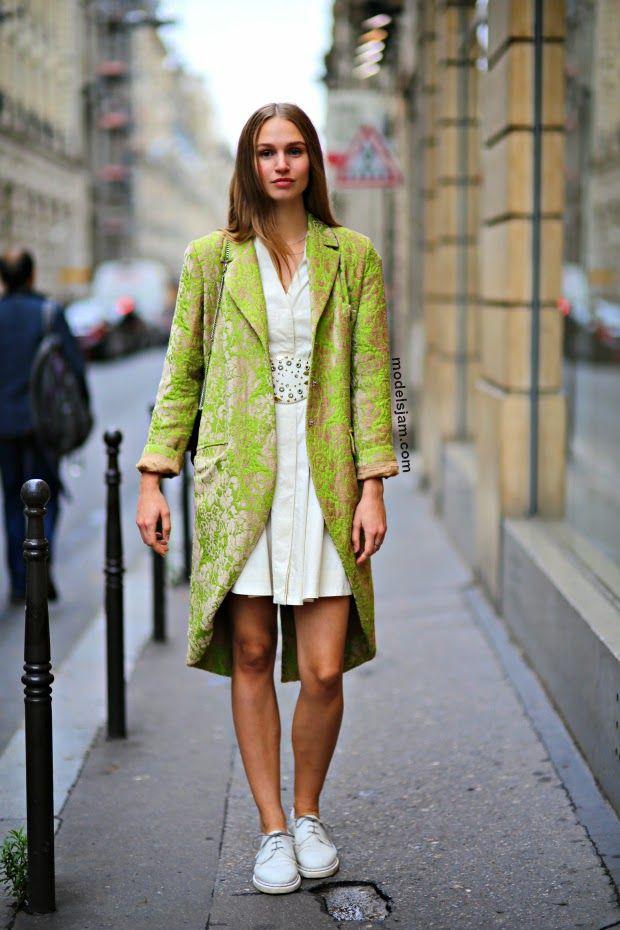 fab topper. #NathalieOstergaard #offduty in Paris.