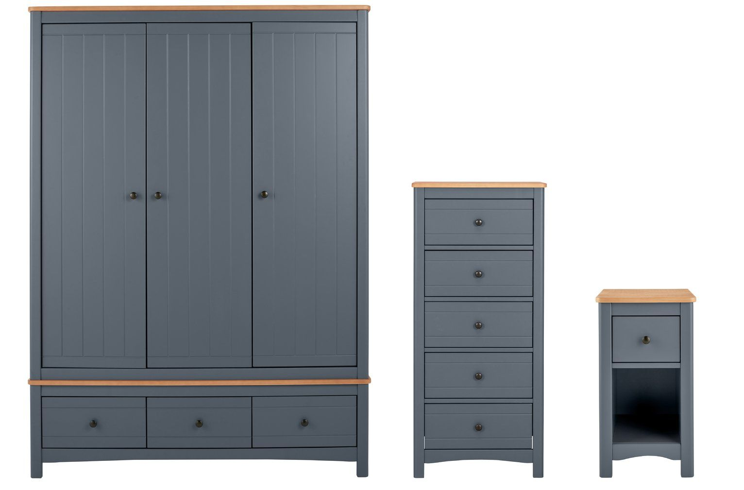 Buy Argos Home Bournemouth 5 Piece 5 Dr Wardrobe Set - Dark Grey