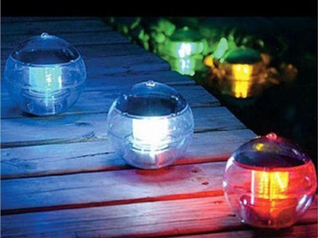 Solar Powered LED Globe lampe nuit lumière pour jardin éclairage ...