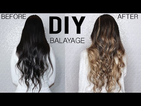 How To Diy Balayage Ombre Hair Tutorial At Home From Dark To Blonde Youtube In 2020 Diy Balayage Ombre Hair Tutorial Diy Hair Color