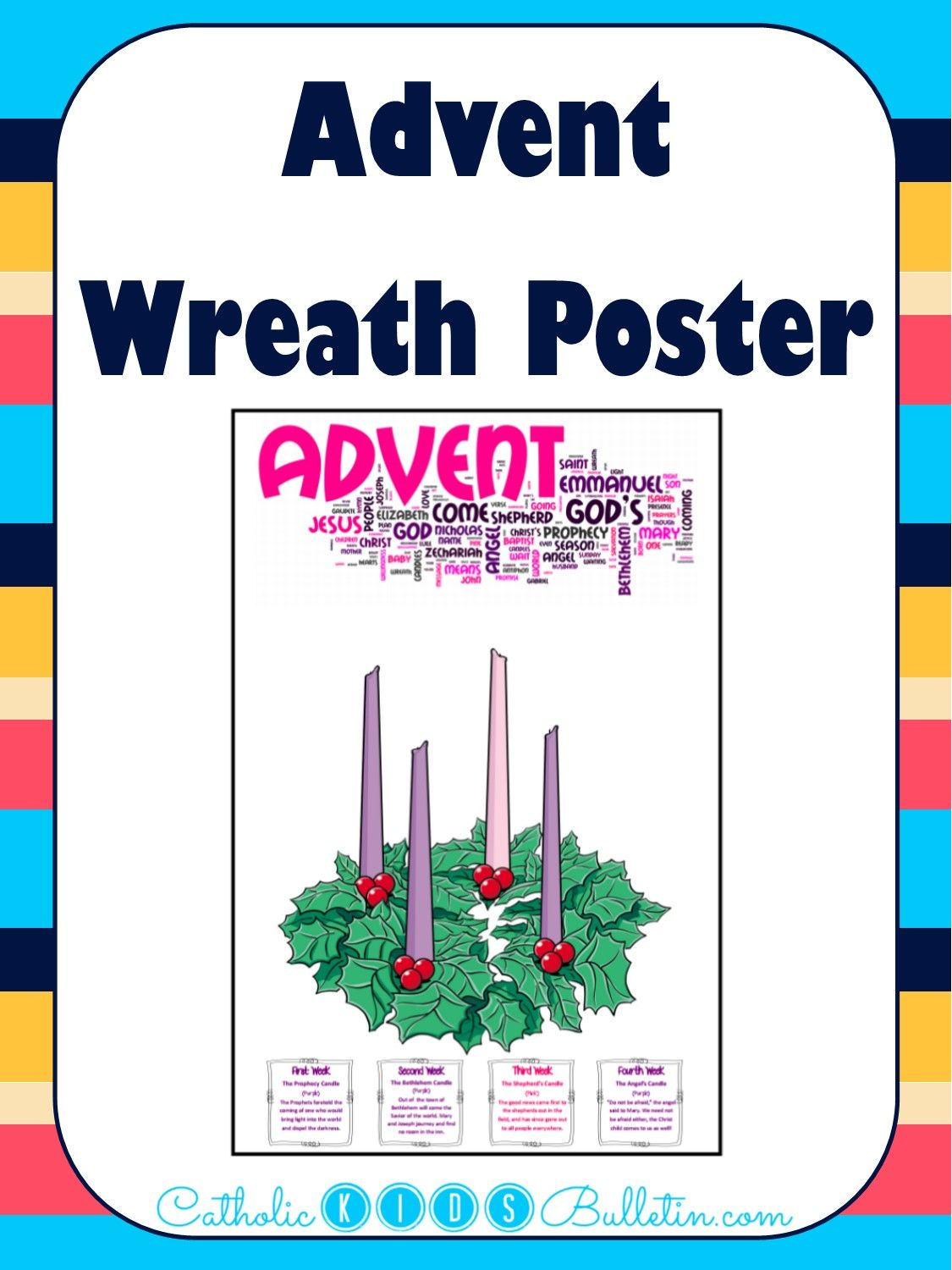 This Advent Wreath Poster Will Be Perfect To Print And