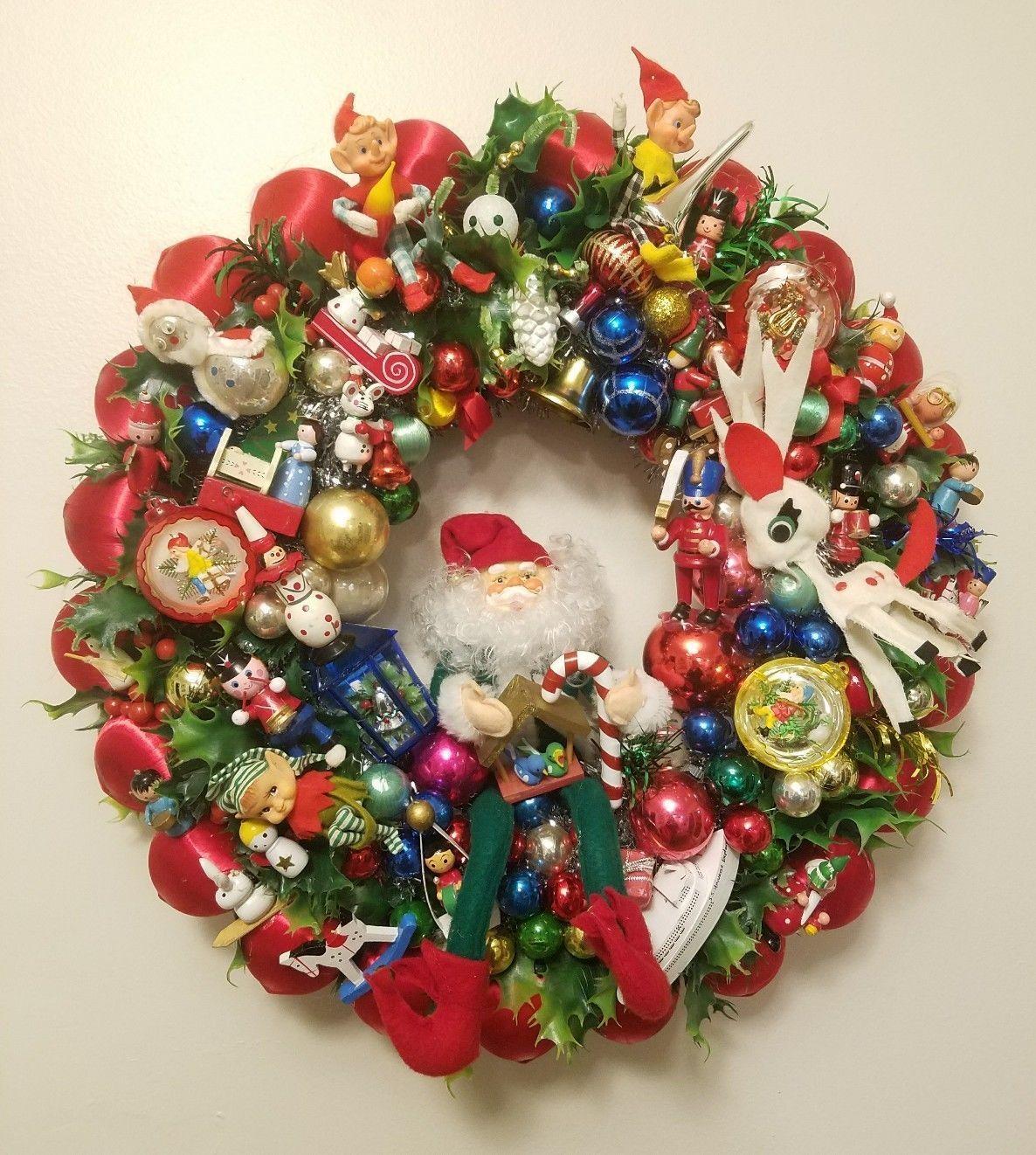Vintage Christmas Wooden Ornament Wreath Buzztmz Vintage Ornament Wreath Christmas Ornament Wreath Christmas Wreaths