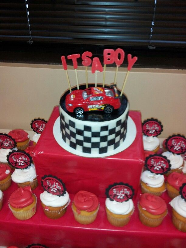 Race Car Baby Shower Baby Shower Sweets Baby Shower Cakes Baby Shower