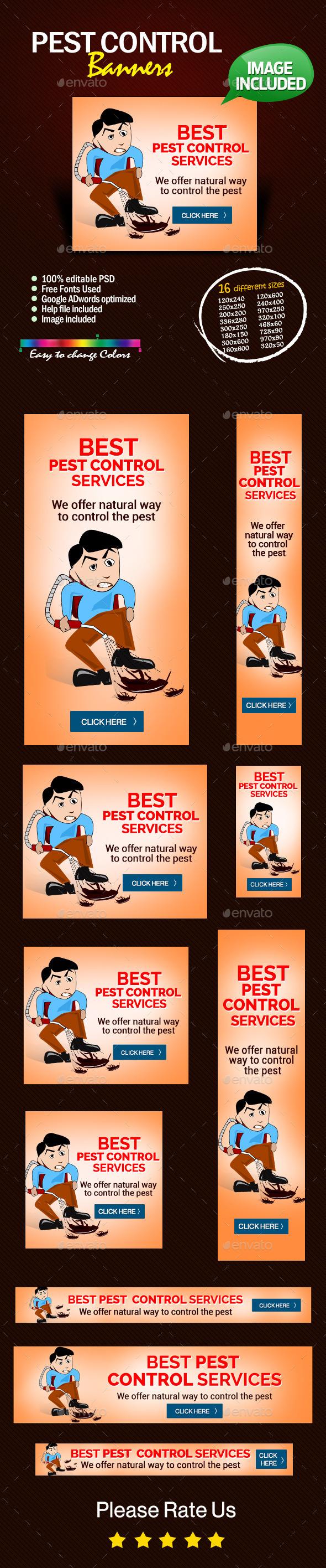 Web Banner Design For Pest Control Service Web Banner Design Banner Design Web Banner