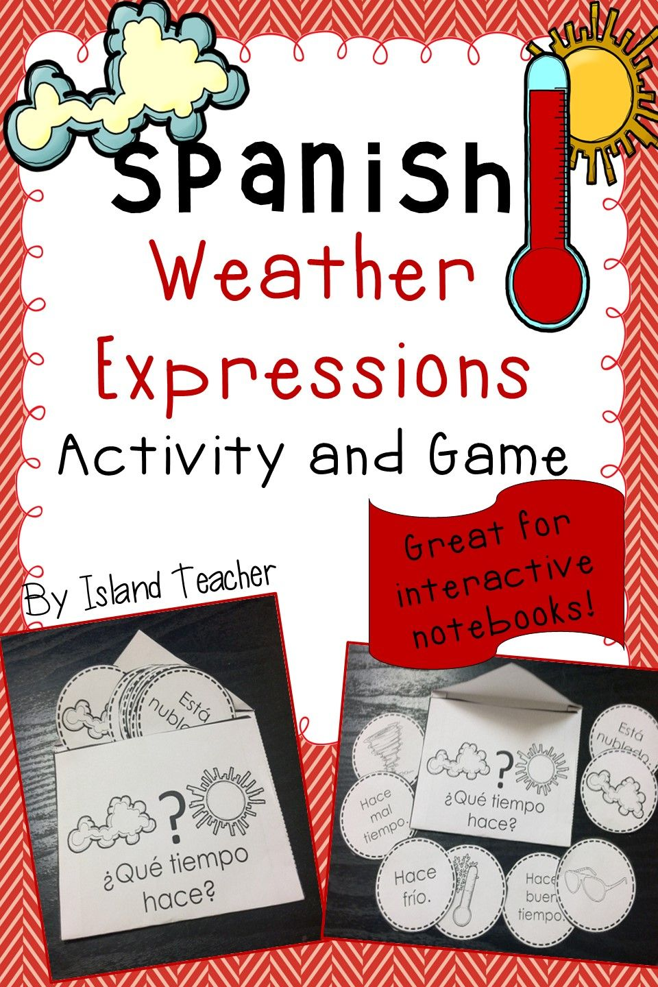 Workbooks weather expressions in spanish worksheets : Spanish Interactive Notebook Weather Activity and Game | Game ...