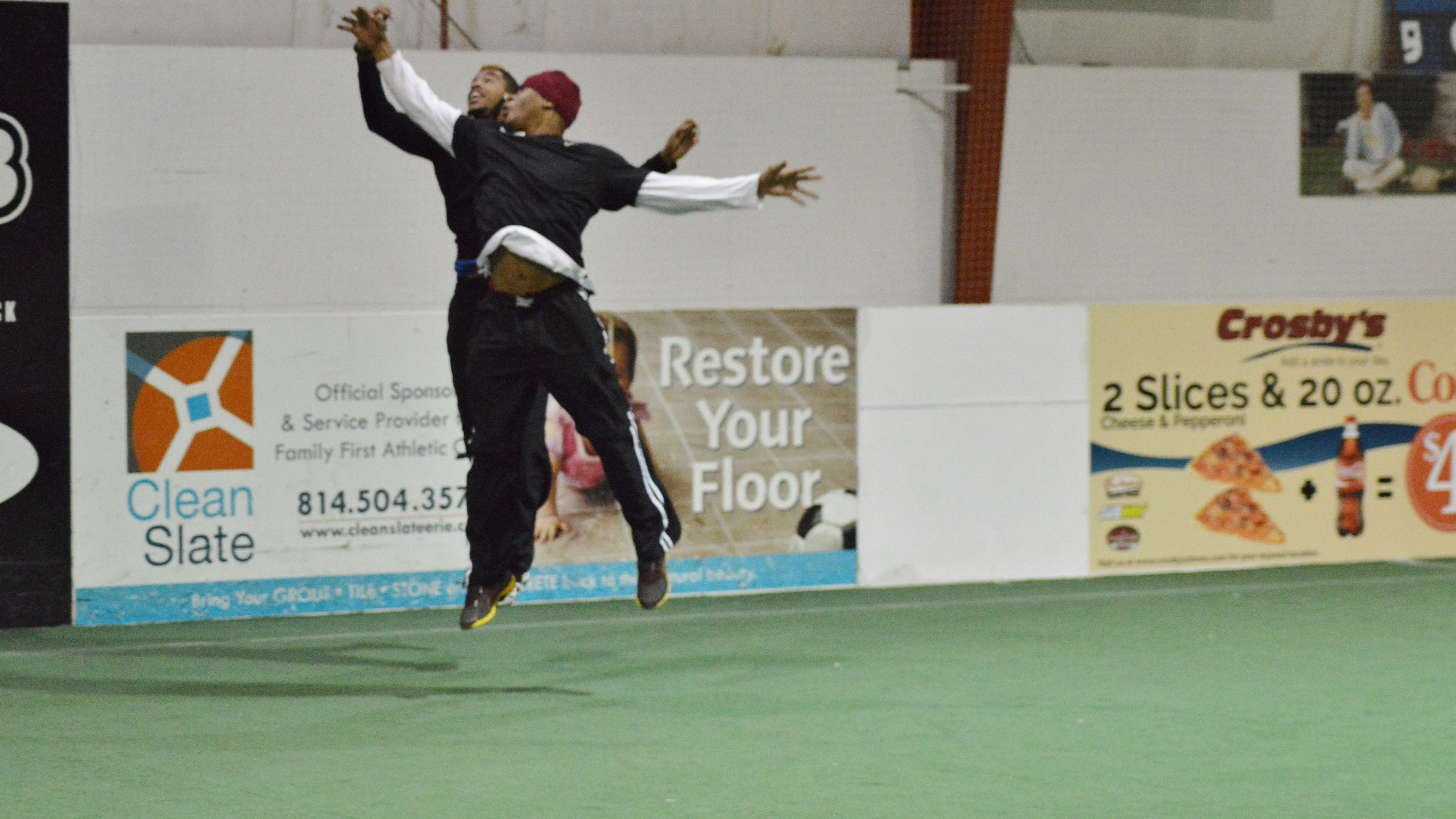 Erie Explosion Players Jumping for the ball! Sport park