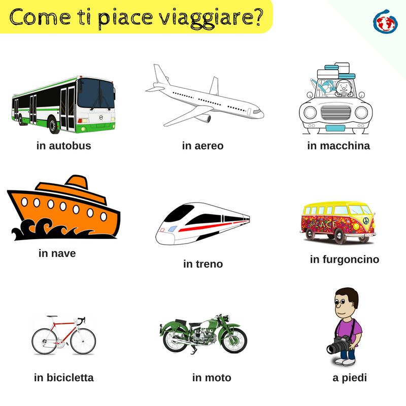 Ecco Alcuni Mezzi Di Trasporto Con Cui Puoi Viaggiare Italian Language Learning Italian Language Learning Italian