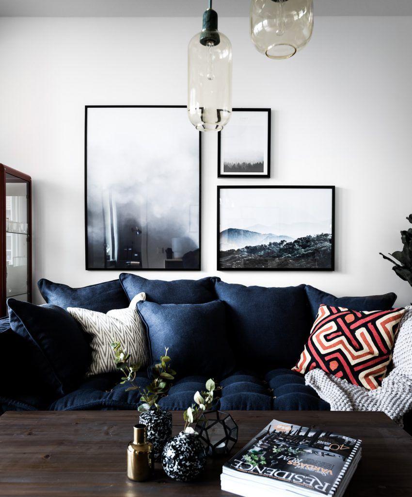 On craque pour le bleu marine ou navy blue en déco | gallery walls ...