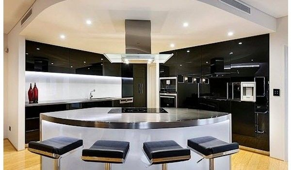Disenos De Casas Modernas De Una Planta Modern Kitchen Island Design Luxury Kitchen Design Modern Kitchen Design