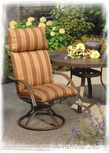 Homecrest S Palisade Cushion Swivel Rocker While Our Palisade Collection Has Been Discontinued The S Patio Furniture Collection Outdoor Chairs Outdoor Living