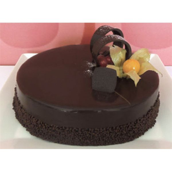 Chocolate Ganache Delivery Cyprus -Rich chocolate layer cake filled with chocolate ganache cream.