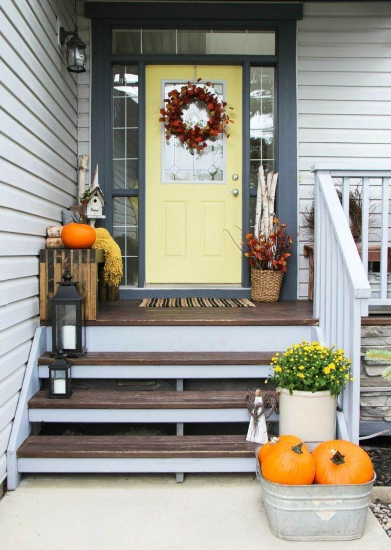 Herbstdeko selber basteln tolle ideen hauseingang deko herbstdeko deko und haus - Hauseingang deko ...