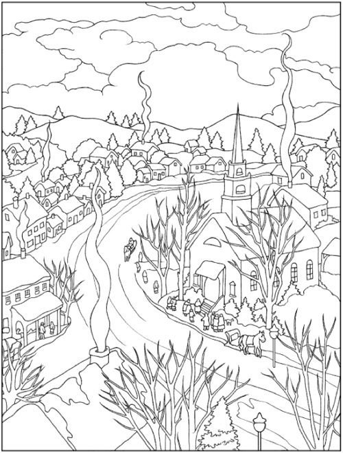 22 christmas coloring books to set the