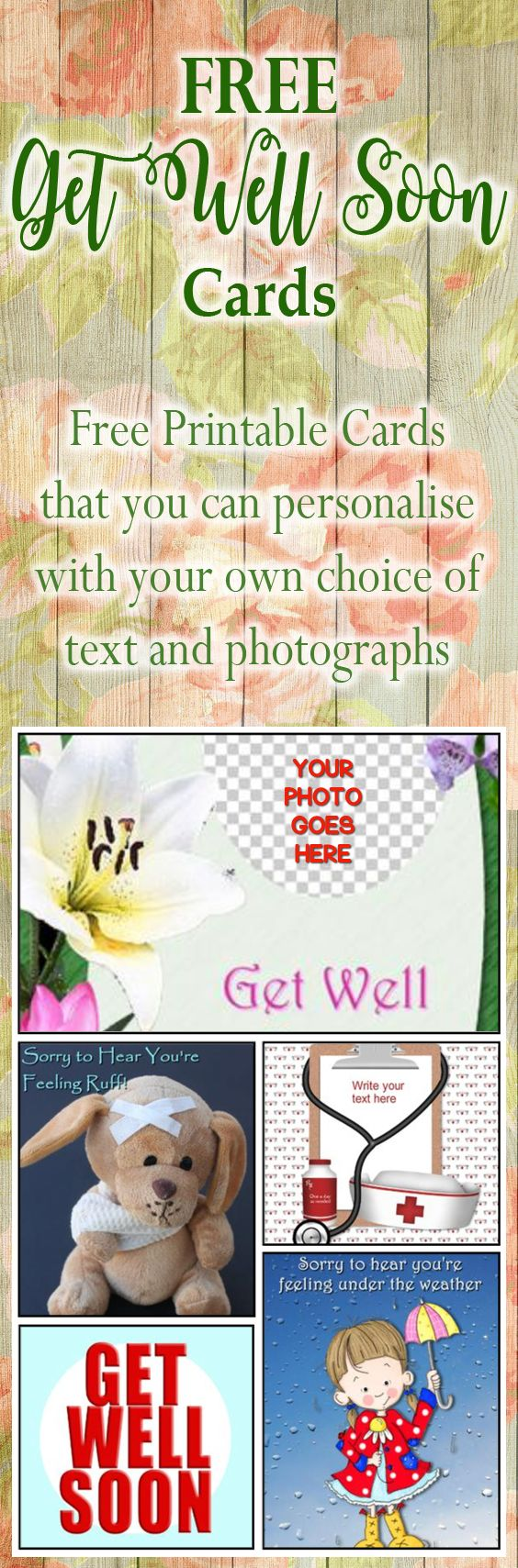 Create your own personalised get well soon greeting cards add your create your own personalised get well soon greeting cards add your own choice of text kristyandbryce Images