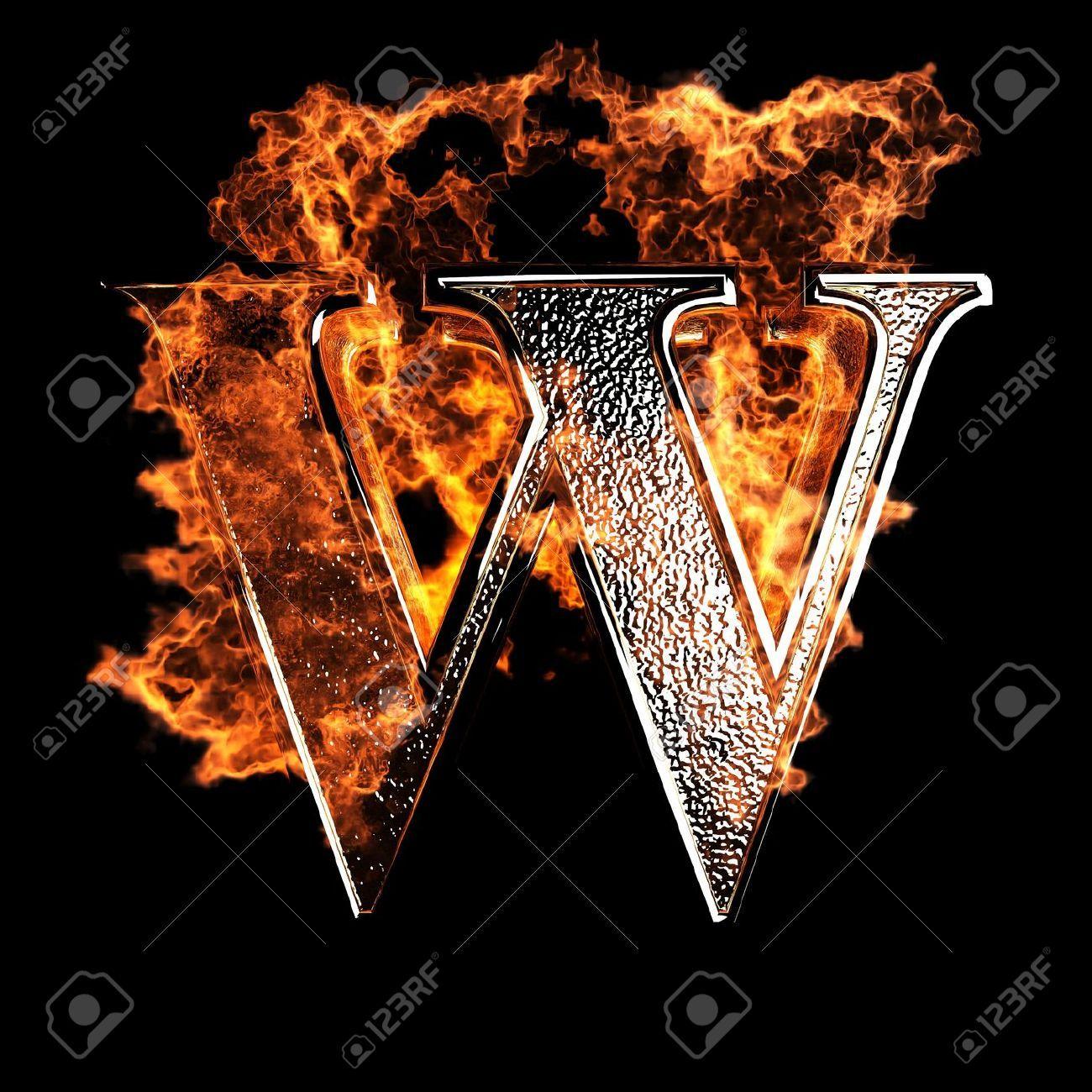 Typography Burning Alphabet Letter W Lettering Stylish Alphabets Alphabet Design