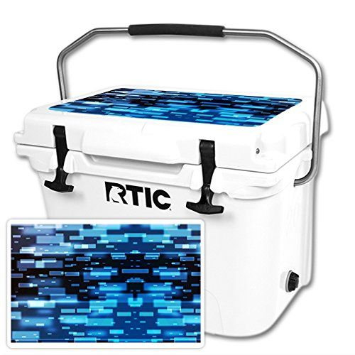 MightySkins Protective Vinyl Skin Decal for RTIC 20 Cooler Lid wrap cover sticker skins Space Blocks ** Click image to review more details.