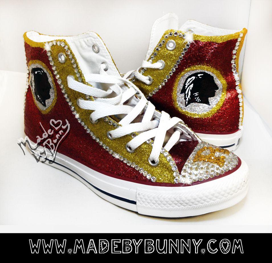 537e167d handmade Washington Redskins Glitter & Crystal Rhinestone Bling ...