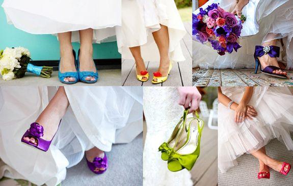 zapatos de novia de colores #zapatos #bodas #novias | bodas