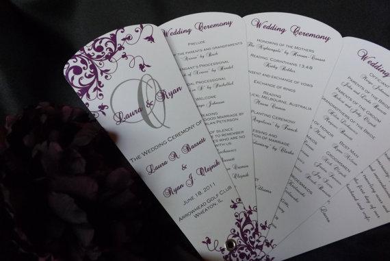 Wedding Program Fans Petal Fan Programs By Weddingsophisticate
