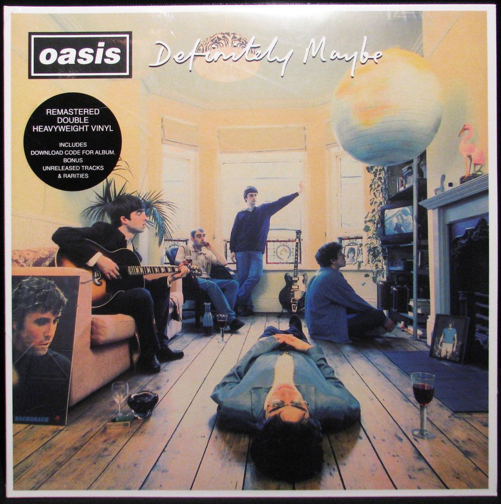Oasis Definitely Maybe Remastered 180g 2lp Vinyl Record Download Card Rock Album Covers Music Album Cover Cool Album Covers