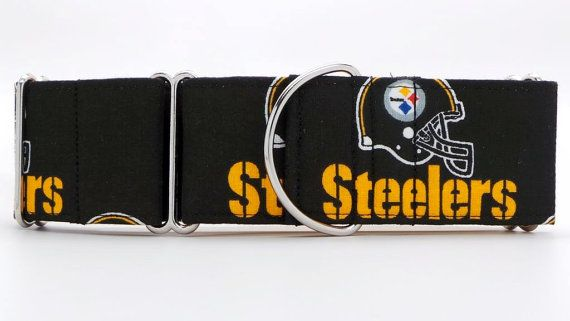 Pittsburgh Steelers Dog Collar Martingale Buckle by dogsbythebay, $19.99