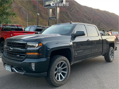 2018 Chevrolet Silverado 1500 20x9 18mm Vision Turbine In 2020